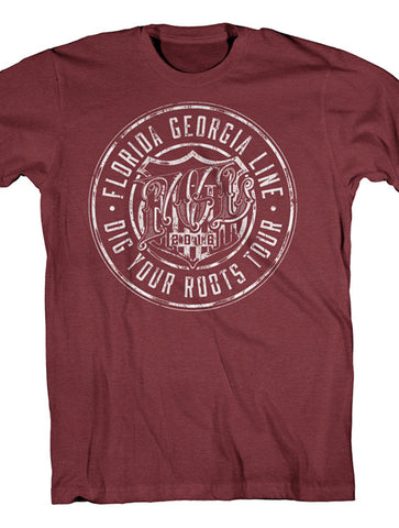Heather Cardinal Dig Your Roots Logo Tee