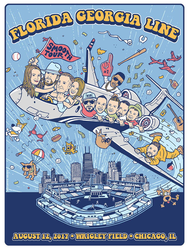 2017 Wrigley Field Tour Poster