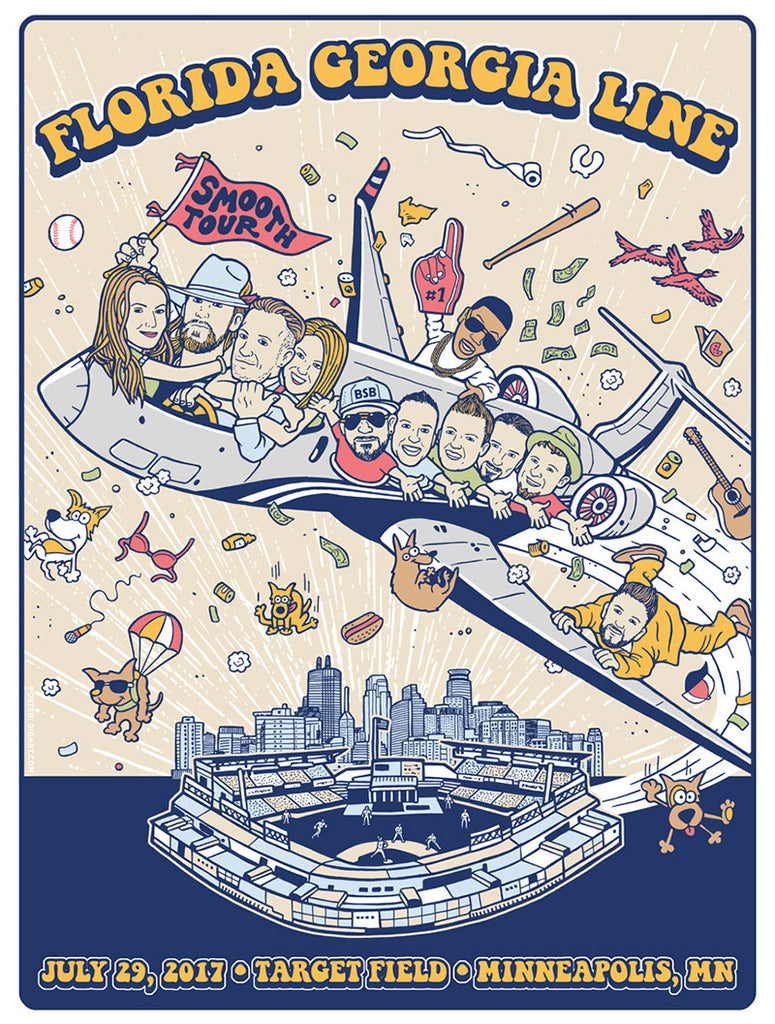 2017 Target Field Tour Poster
