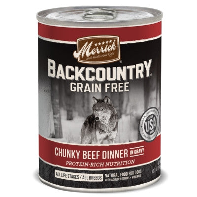 Backcountry Grain Free Chunky Beef Canned Dog Food