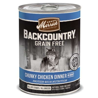 Backcountry Grain Free Chunky Chicken Canned Dog Food