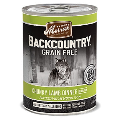 Backcountry Grain Free Chunky Lamb Canned Dog Food