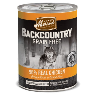 Backcountry Grain Free Backcountry 96% Chicken Recipe Canned Dog Food