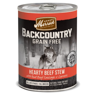 Backcountry Grain Free Hearty Beef Stew Canned Dog Food