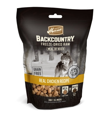 Backcountry Freeze Dried Grain Free Chicken Recipe Meal Mixer for Dogs