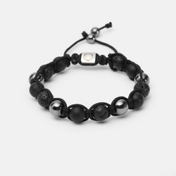 Depth // Shamballa - Executive Society (Beaded, leather, stainless, mens, bracelet)