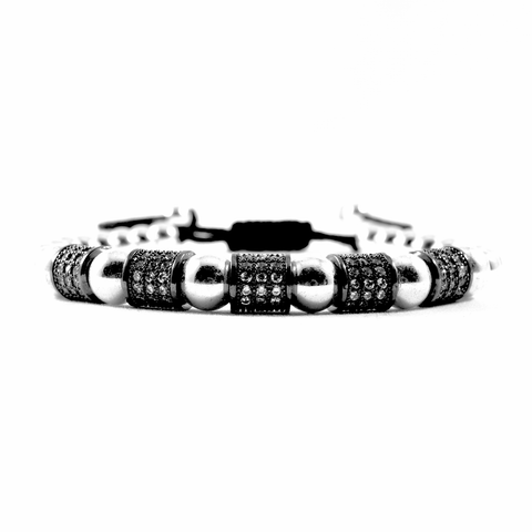 Supremacy - Executive Society (Beaded, leather, stainless, mens, bracelet)