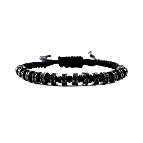 Mastery (Black) - Executive Society (Beaded, leather, stainless, mens, bracelet)