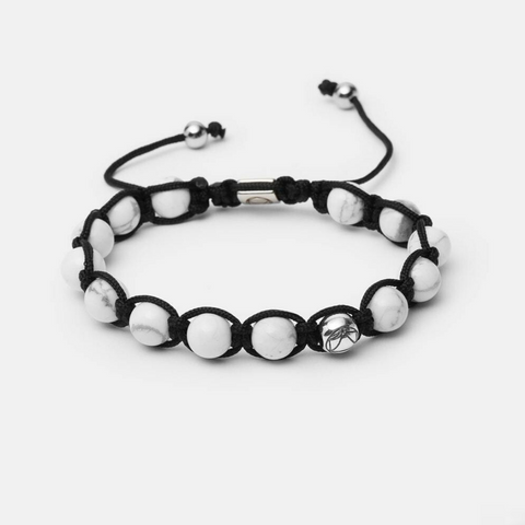 Light // Shamballa - Executive Society (Beaded, leather, stainless, mens, bracelet)