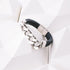 Myth (Silver) - Executive Society (Beaded, leather, stainless, mens, bracelet)