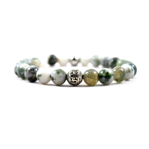 Omega Jade Bracelet - Executive Society (Beaded, leather, stainless, mens, bracelet)