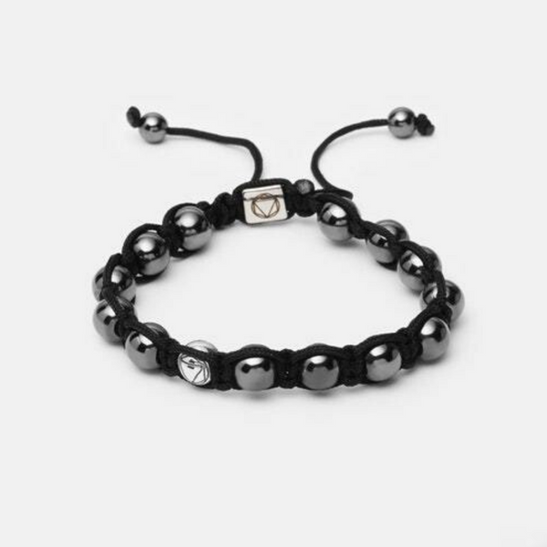 Reflection // Shamballa - Executive Society (Beaded, leather, stainless, mens, bracelet)