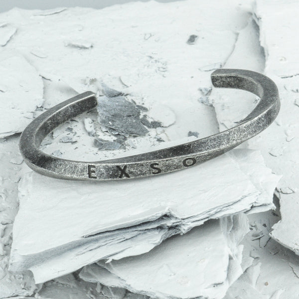 Reformation // Weathered Cuff - Executive Society (Beaded, leather, stainless, mens, bracelet)