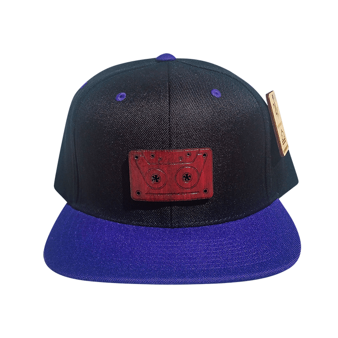 Purple Tape Snapback Hat