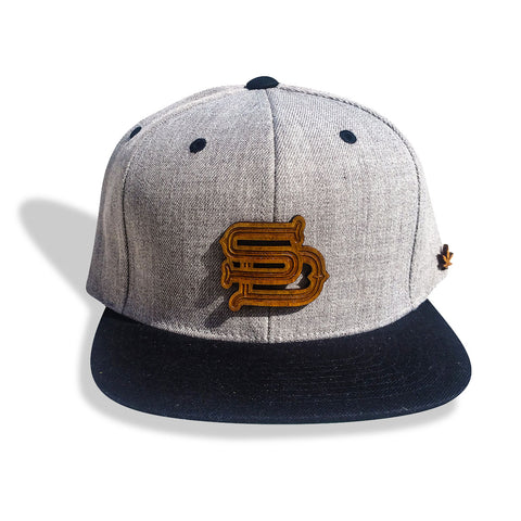 San Diego SD Wooden Medallion Snapback Hat