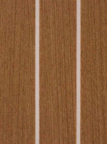 Teak and Ivory boat vinyl flooring