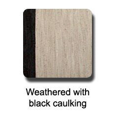 Dek-King Weathered with black caulk marine synthetic teak flooring