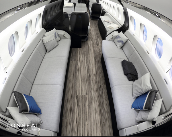 LONMISTRAL- exotic vinyl flooring for aircraft