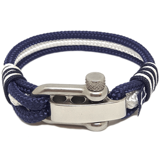 Adjustable Shackle Nautical Bracelet