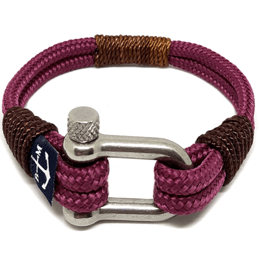 Yachting Brown and Burgundy Nautical Bracelet