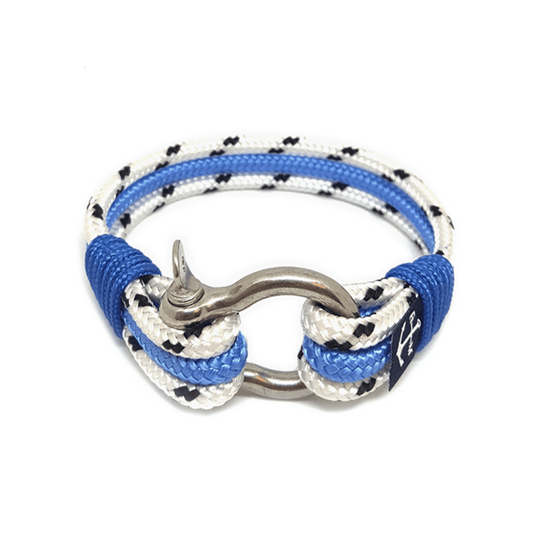 Dotted White and Blue Nautical Bracelet