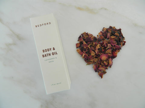 1 oz. Body & Bath Oil - Lavender & Rose
