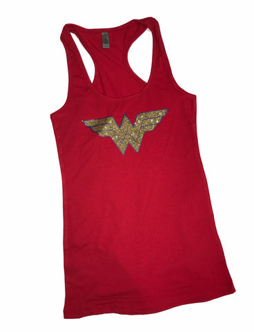 70ac740ba07c5 Wonder Woman FITTED Racerback Tank Top Womens workout top fitness gym  Costume