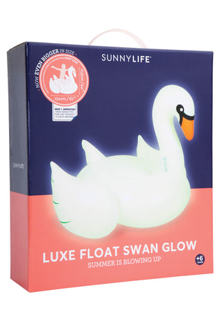 Sunnylife Luxe Glowing Swan Float