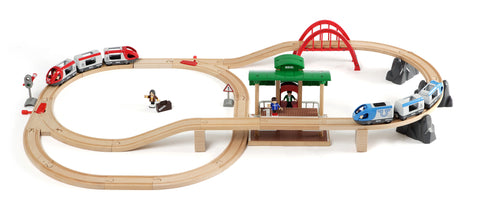 Brio Battery Powered Wooden Train Set Jasper Junior