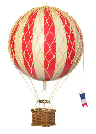 Large Hanging Hot Air Balloon Red