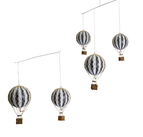 Hot Air Balloon Mobile - Black & White