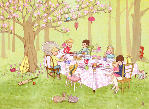 Belle And Boo Print Ava's Teaparty Jasper Junior