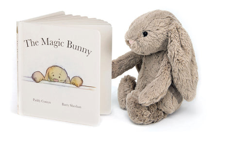 Jellycat Bashful Bunny Beige and Book Gift Set