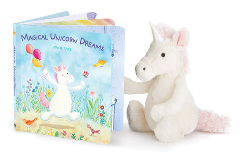 Jellycat Unicorn and Magical Unicorn Dreams Book