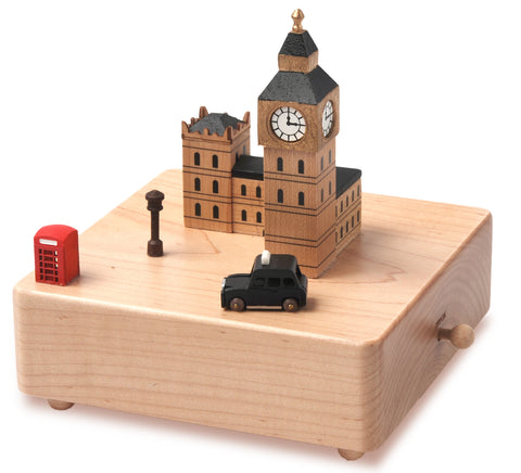 Wooden Music Box London Taxi