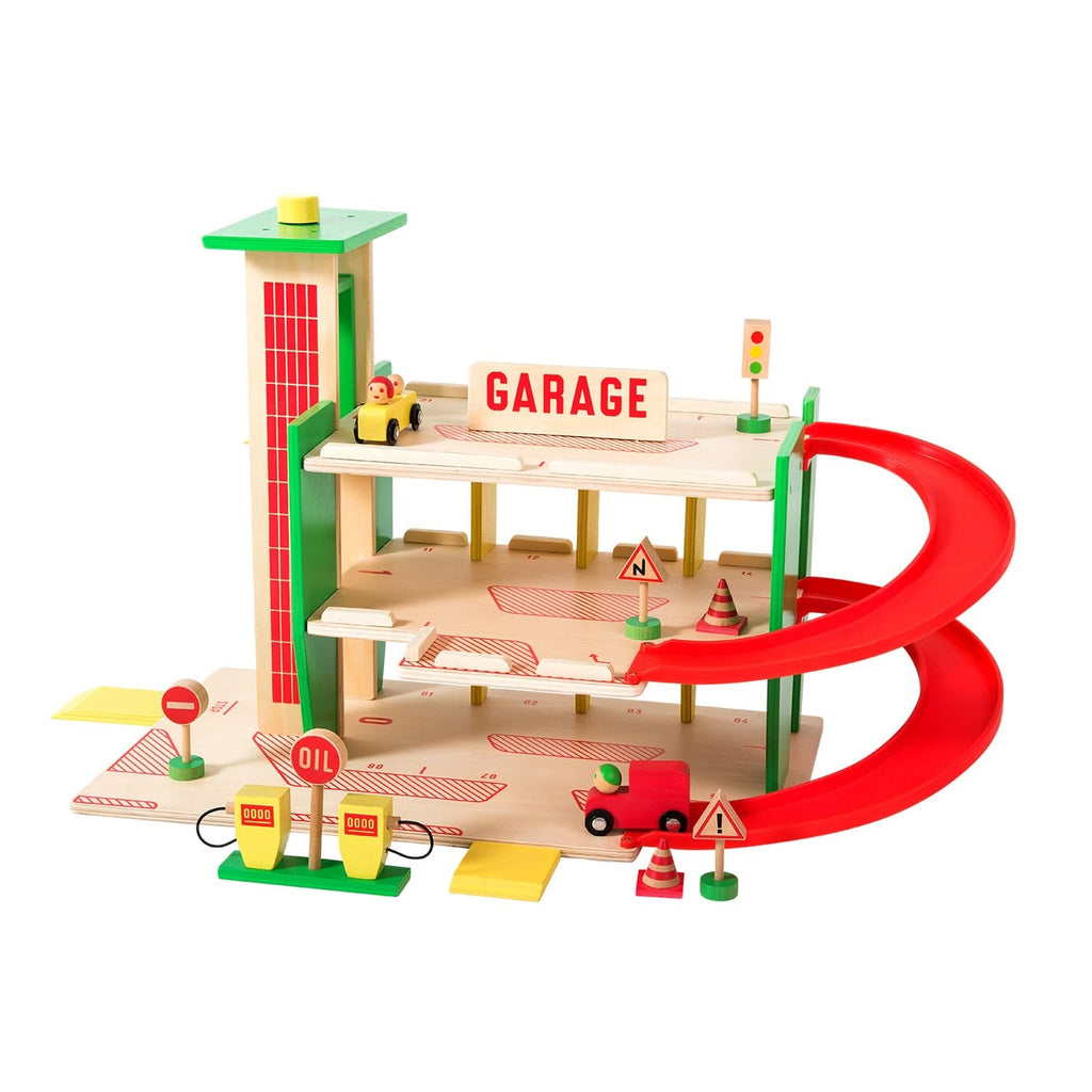 Moulin Roty Wooden Car Garage