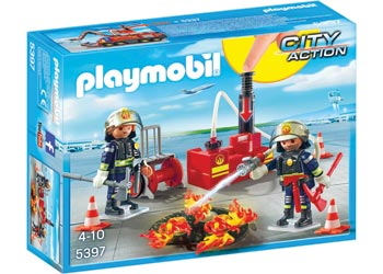 Playmobil Fire Fighting Operation with Water Pump