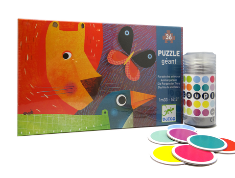 Puzzle And Game Set Animals And Colours
