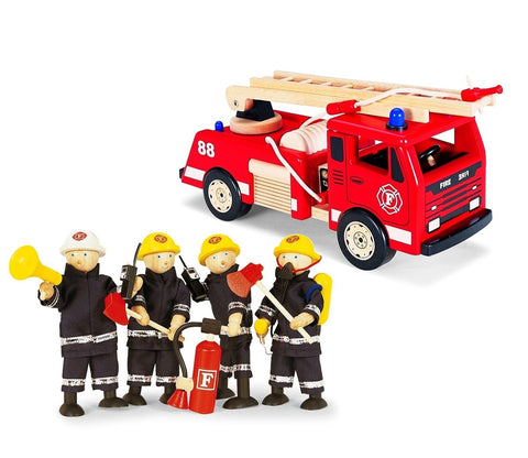 Fire Engine & Fire Fighters Set