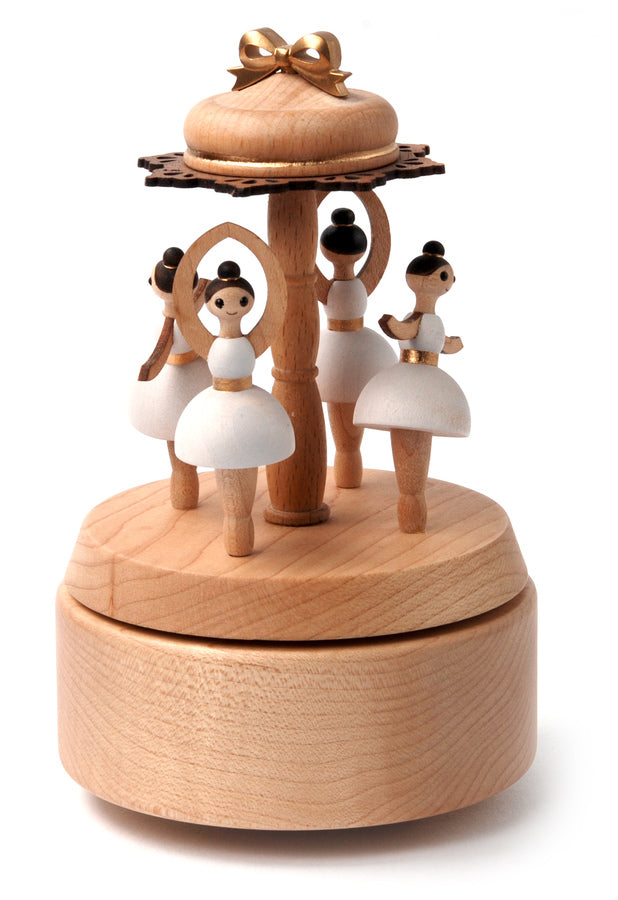 Wooden Music Box Ballerinas