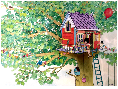 Belle And Boo Print Ava's Treehouse Jasper Junior