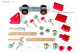 Janod DIY Fire Engine Pullalong with FREE Bagtag / Keyring
