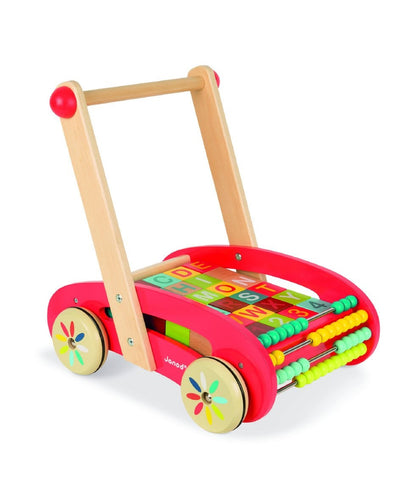 Janod Walker Wagon with Blocks