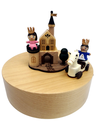Wooden Music Box Prince Charming