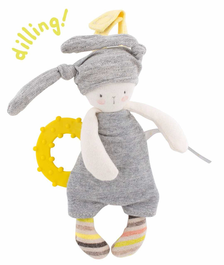 Moulin Roty Les Petits Dodos Rabbit Teething Rattle
