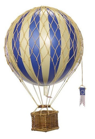 Large Hanging Hot Air Balloon Blue