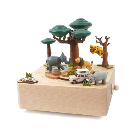 Wooden Music Box Safari