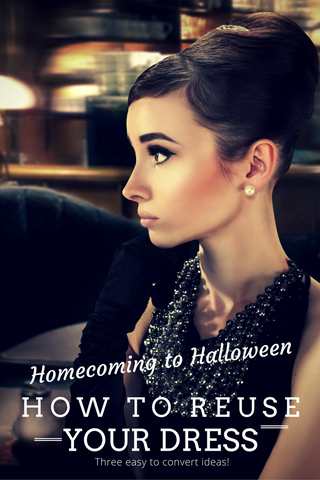 Homecoming to Halloween - How to Reuse Your Dress
