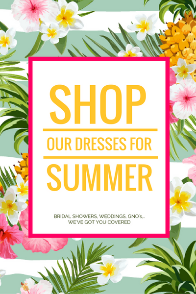 Shop our summer collection - wedding guest dresses, bridal shower dress, baby shower guest, dress for Kentucky Derby, festival dress, summer cocktail