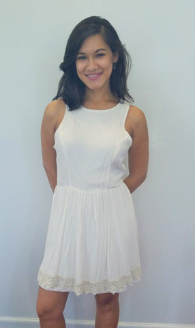 White Casual Tank Dress